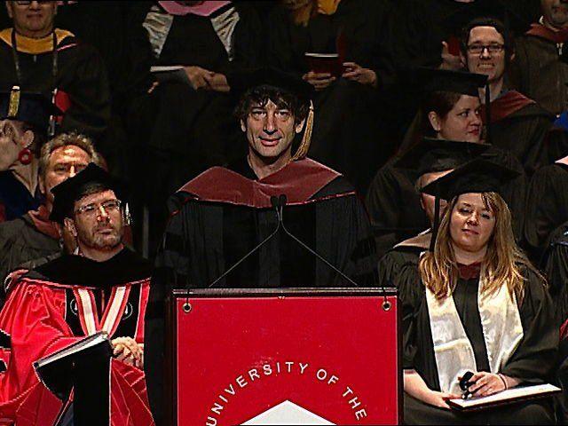 Neil Gaiman Addresses the University of the Arts Class of 2012
