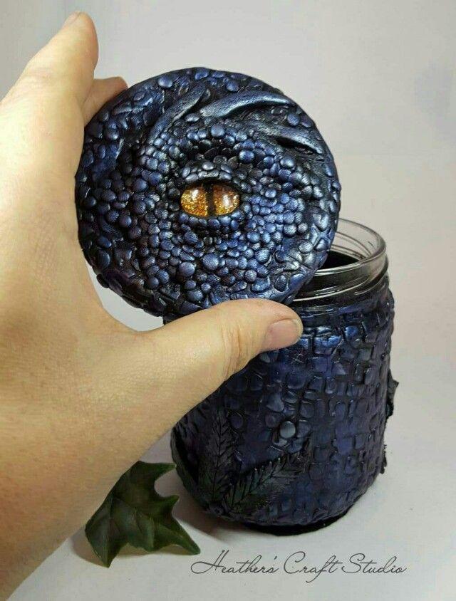 Dragon Eye Trinket Jar by Heather's Craft Studio