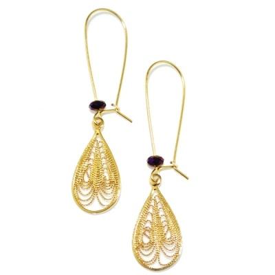 toodles BY TOODLEBUNNY Filigree Earrings Purple