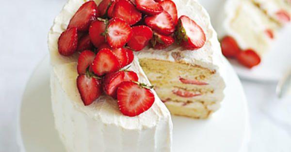 Receptet på sommartårta är beräknat till 8-10 bitar. Recept från boken Lomelinos tårtor.