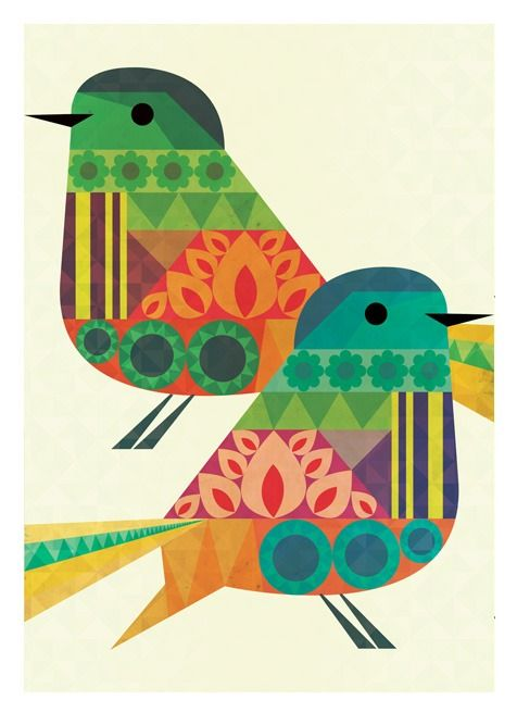 folk birds illustrated by neil stevens