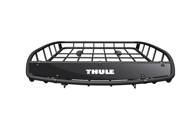 - Brand: Thule - Part #: SOA567C011 - Dimensions: 50.25 x 41 x 6 in - Load capacity: 150 lb - Maximum barspread: 37 in - Minimum barspread: 20 in The Thule Canyon roof basket gives you additional stor