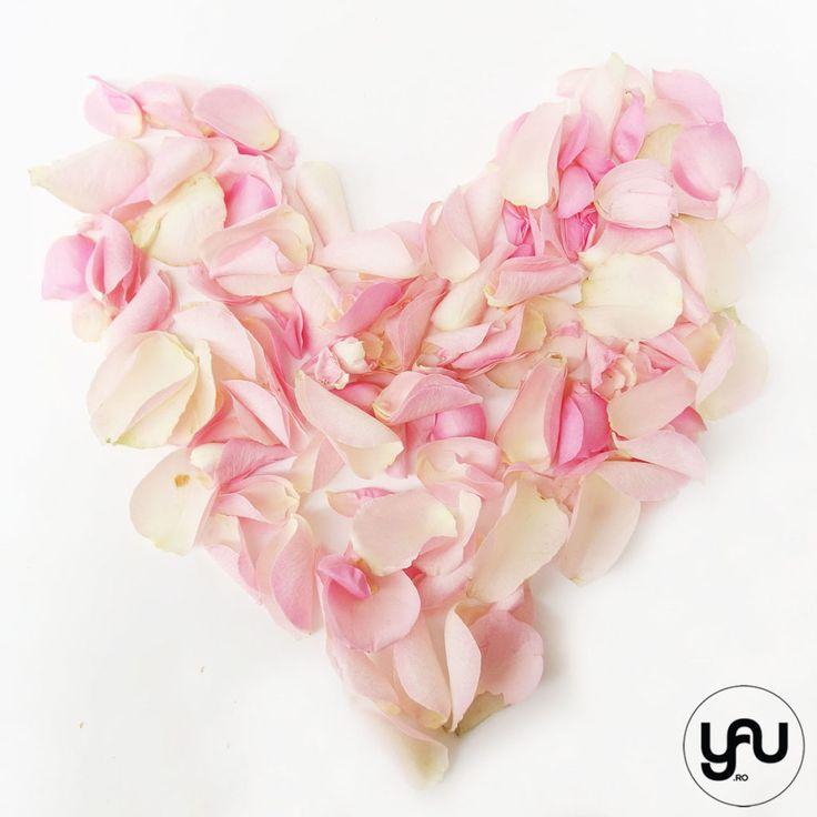 INIMA din petale roz pentru Valentine's day | YaU Concept BLOG