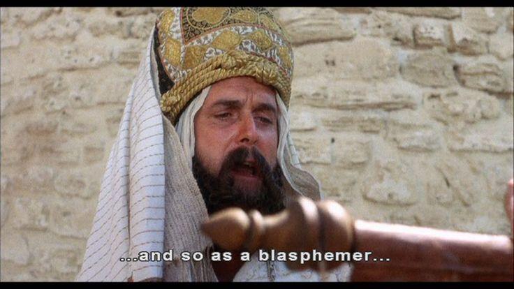 Blasphemy in monty python s life of