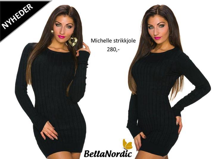 ❤ Vi har lagt endnu flere skønne nyheder i shoppen ❤ Vi er helt vilde med vores nye lækre Michelle strikkjole ❤ Pris 280,- ❤ Er det en du kunne ønske dig? http://bellanordic.dk/strik-og-hverdagskjoler/1224-michelle-strikkjole-sort.html