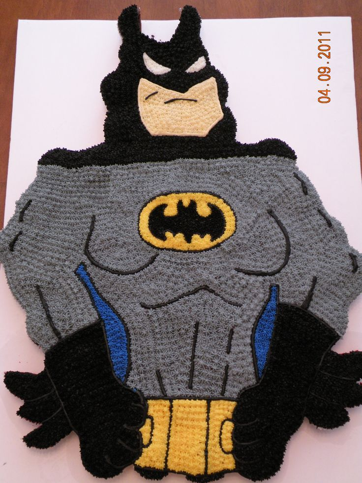 batman pull apart cake - i made this pull apart cake for a boy's 6th birthday. it is totally made of cupcakes.
