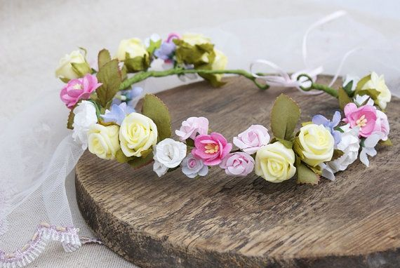 floral crown Communion flower crown bridal flower crown by mamwene