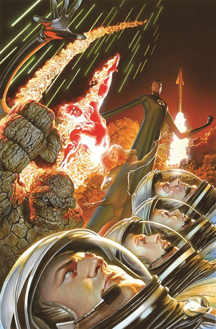Fantastic Four #1 by Alex Ross (One of the All New Marvel NOW! titles, starting 2/2014).