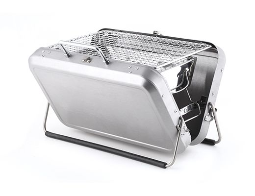 Since we can't have an actual grill on our balcony: Kikkerland Design's Portable BBQ Suitcase