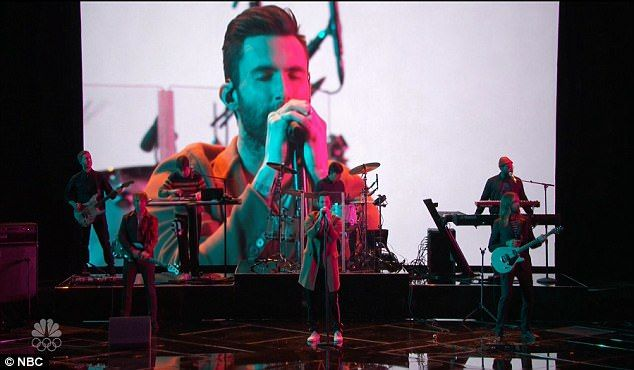 Three-time Grammy winners: Levine and his Maroon 5 bandmates performed their new single What Lovers Do on Tuesday night's episode of The Voice
