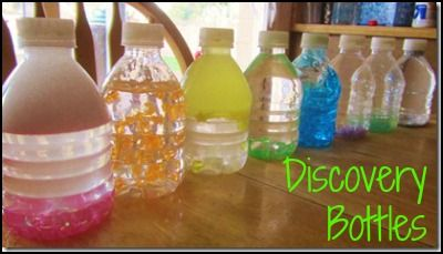 Discovery bottles are a great way for children to explore scientific concepts in a safe, clean way. They encourage the development of observation, predictability, and thinking skills as well as gross and fine motor skills, following directions, and patience