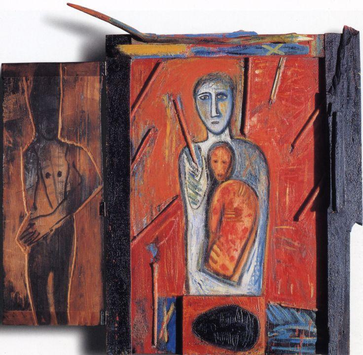 MIMMO PALADINO – MARE DEL NORD, 1985, Tecnica mista (ferro e legno) e olio su legno, 86x121 cm | Gallerie d'Italia