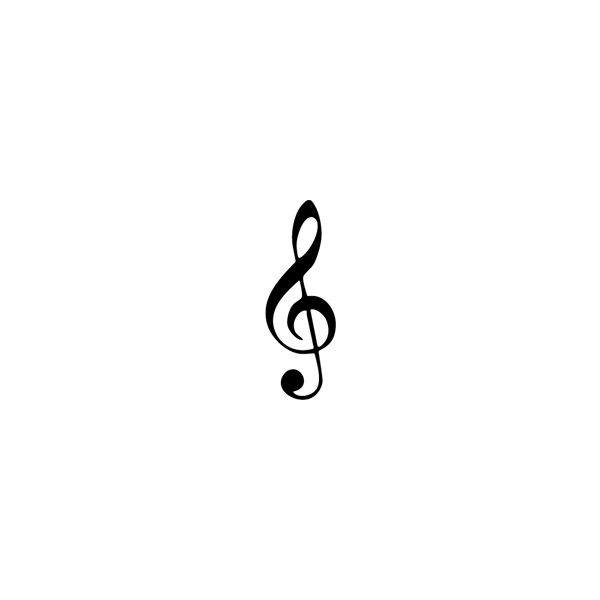 G Clef Clave de Sol logo | Best Brands of the World & vector logos ❤ liked on Polyvore featuring fillers, backgrounds, black, black fillers and drawings