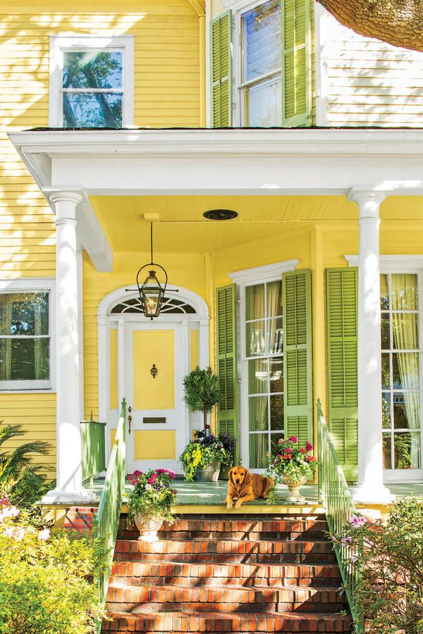 17 best ideas about yellow house exterior on pinterest yellow houses exterior door colors and - Exterior door paint color ideas property ...