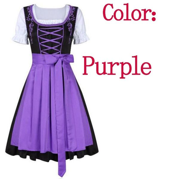 Cheers Traditional German Girl Oktoberfest Dirndl Fancy Dress Servant Costume – Party and Festivals