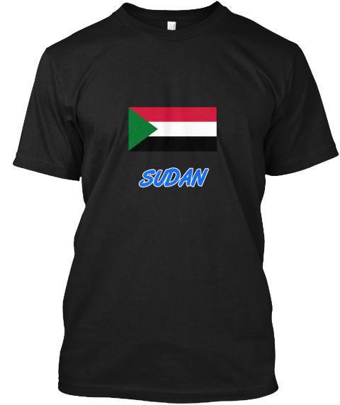 Sudan Flag Artistic Blue Design Black T-Shirt Front - This is the perfect gift for someone who loves Sudan. Thank you for visiting my page (Related terms: I Heart Sudan,Sudan,Sudanese,Sudan Travel,I Love My Country,Sudan Flag, Sudan Map,Sudan Language, Su #Sudan, #Sudanshirts...)