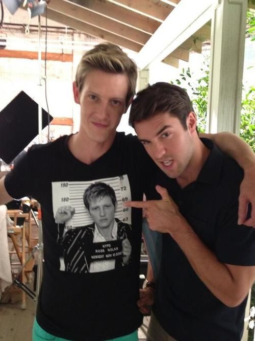 CAN'T TELL WHO'S HOTTER: Gabriel Mann and Joshua Bowman. Original Caption: Love these boys