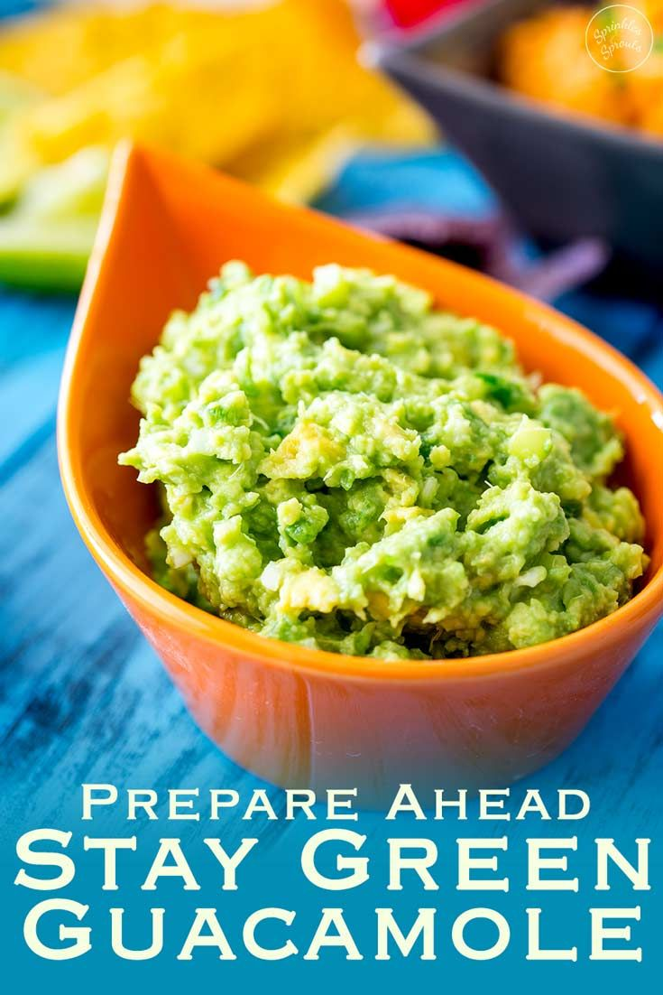 Can You Substitute Lime For Lemon In Guacamole Prepare Ahead Guacamole Rich And Creamy With A Nice Bright Punch Of Lime And The Subtle Hint Of Jalapeno And Onion With M Guacamole Recipes Avocado Recipes