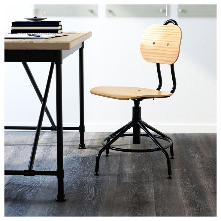 ikea  kullaberg swivel chair pine black  swivel chair