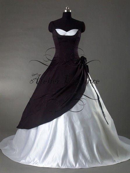 32 best robe de mari e noir et blanche images on pinterest wedding frocks bridal gowns and. Black Bedroom Furniture Sets. Home Design Ideas