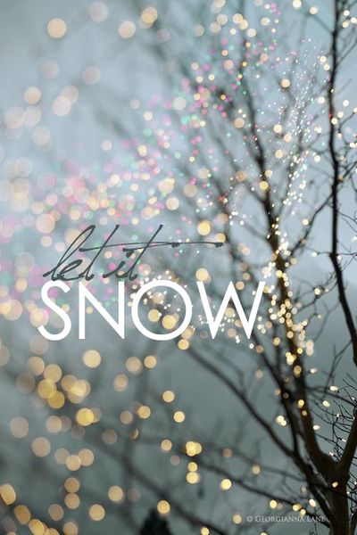 iphone wallpaper  let it snow  Christmas :  Pinterest  Snow, iPhone wallpapers and Winter