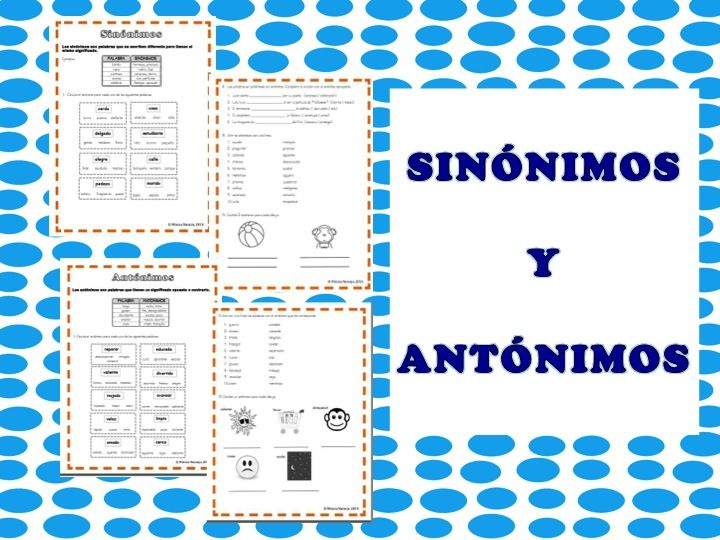 8 best Sinónimos y antónimos images on Pinterest | Spanish classroom ...