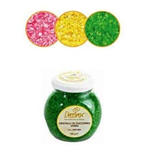 Perle, cristalli e bastoncini : Cristalli di zucchero gialli Decora 100gr