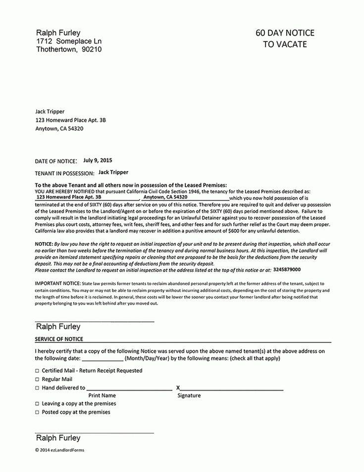 60 Day Notice To Vacate Template - http://www.valery-novoselsky.org/60-day-notice-to-vacate-template-257.html