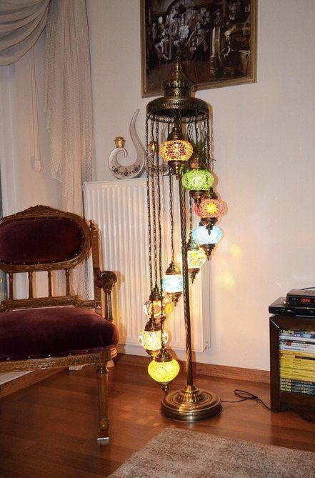 9 Multicolor Standing Lamp Arabian Mosaic Lamps Moroccan Lantern Mosaic Lamp Standing Lamp