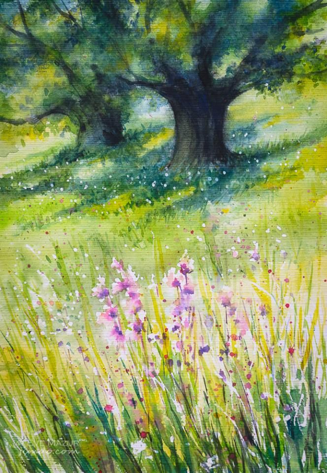 Meadow watercolors 30x40