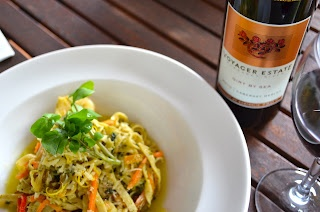 Yum! Olio Bello's Prawn Pasta - Cath's blog: Margaret River Correspondent