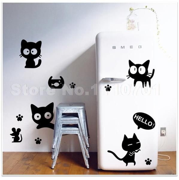 #kidswall #catlovers #cathome #cats #kitties #kitty #newcats #roomdecor #wall #art #stickers https://nbec.myshopify.com/collections/cat-accessories/products/cat-wall-stickers-for-kids-rooms