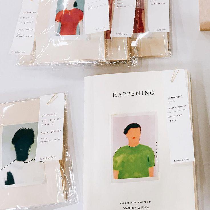 "2016 ""HAPPENING"" 現在こちらの本は全て販売終了。ポストカードは、すこし販売準備中…。 . #graphicdesign#graphic#design#designer#illustration#illustrator#painting#paint#drawing#typography#poster#zine#book#bookdesign#artwork#mywork#japan#japanese#tokyo#wakidaasuka#pastwork#happening"