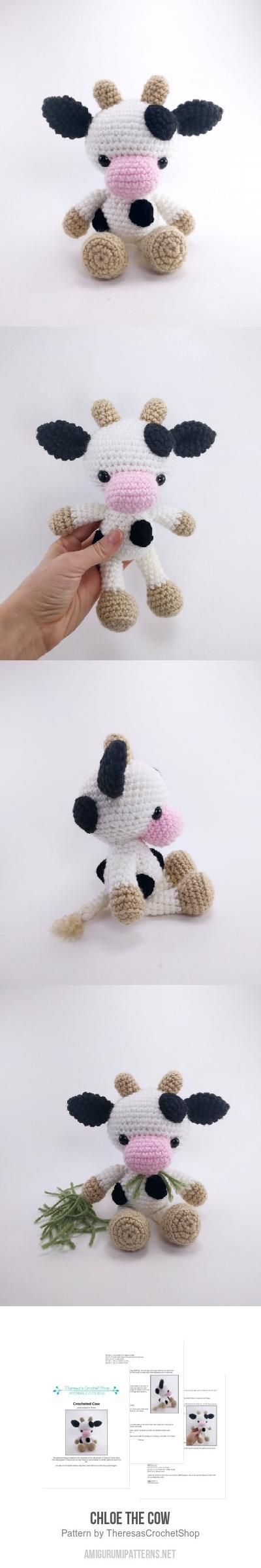 Chloe the Cow amigurumi pattern