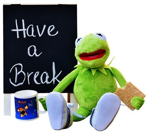 Kermit, Csésze, Kávéznak, Szünet