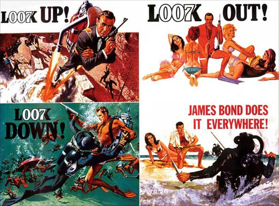 Connery's Bond is the ideal soldier in terms of hegemonic masculinity, and is has become an archetype for contemporary military protagonists. A literal Army of One, he dominates a host of faceless henchmen in order to defeat a maniacal villain (Hitler? Stalin? Mussolini?). When not saving the world with just a pistol (phallus) he's surrounded by women that, regardless of how he treats them, find him irresistible. Ultimately, he's the physical embodiment of the ideologies seen in U.S…