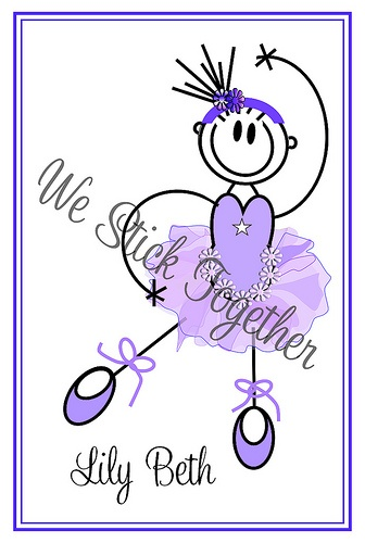 Ballerina Lilly BethAll hand drawn by Jacqui  Find us on facebook https://www.facebook.com/westicktogetherstickers?ref=ts=ts