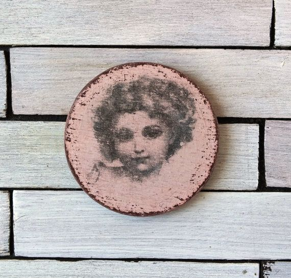 Dollhouse miniature picture girl picture plaque by DewdropMinis