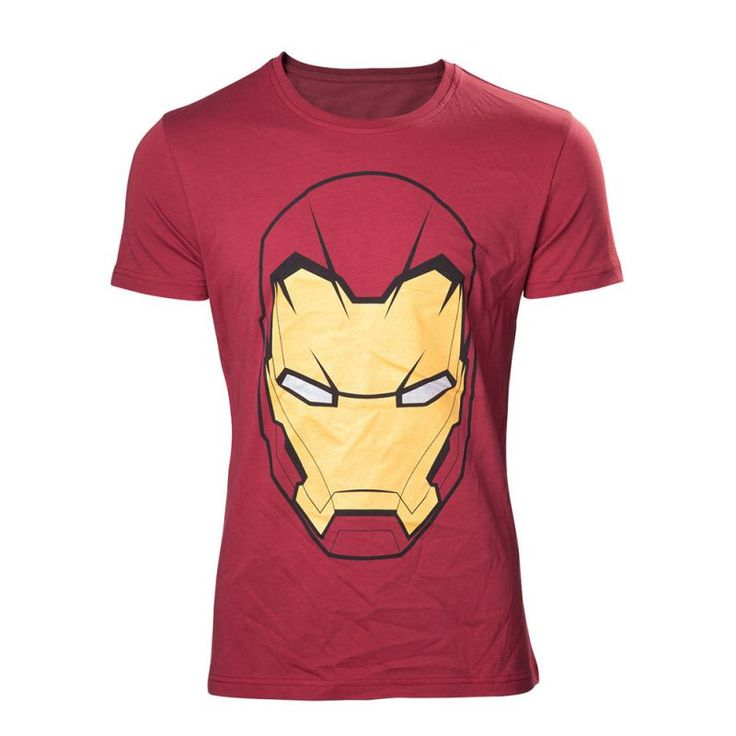 Marvel Comics Adult Male Iron Man Mask T-shirt This premium quality t-shirt is made from cotton for a long lasting fit is professionally stitched and has a officially licensed merchandise design with a front view of Iron Mans recognisable faceplat http://www.MightGet.com/march-2017-1/marvel-comics-adult-male-iron-man-mask-t-shirt.asp