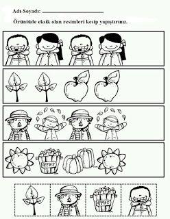 #preschool #okulöncesi #kindergarten #örüntüoluşturma #cutandpastepatternworksheet