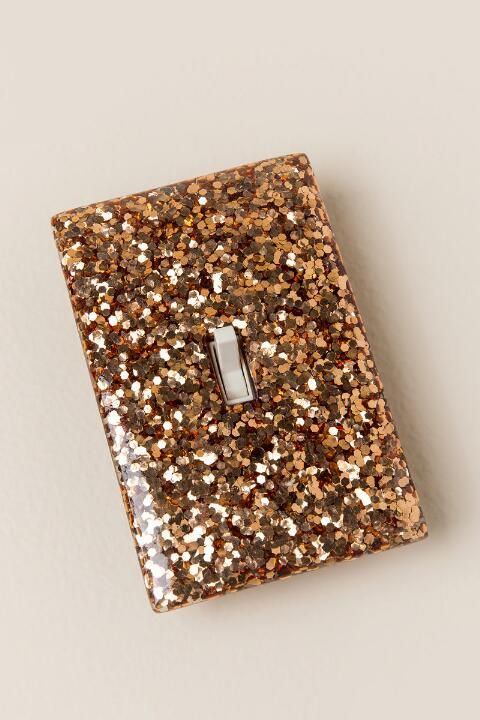 Rose Gold Glitter Light Switch Plate-  gift-cl