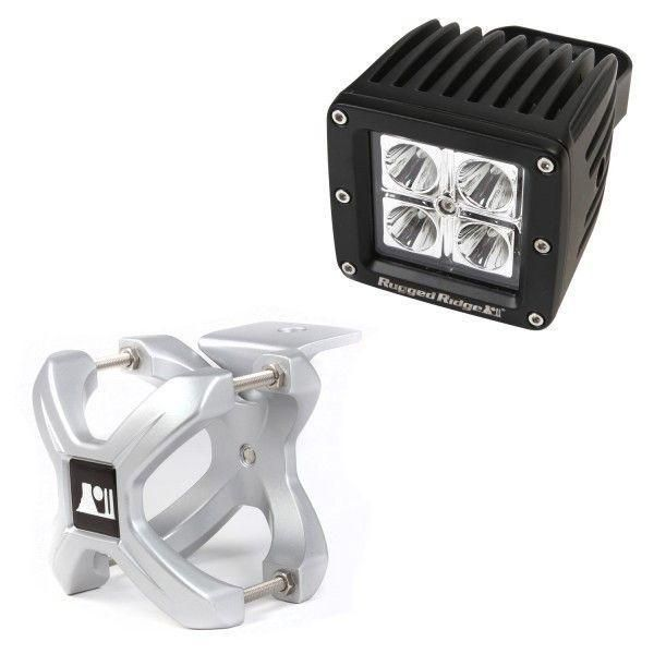 X-Clamp and Square LED Light Kit, Large, Silver, 1 Piece