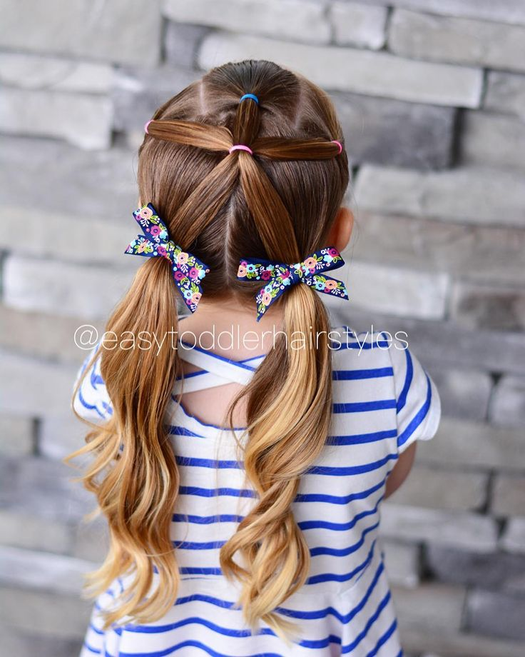 3 front ponytails, combined into one and then split into pigtails. This is hones…