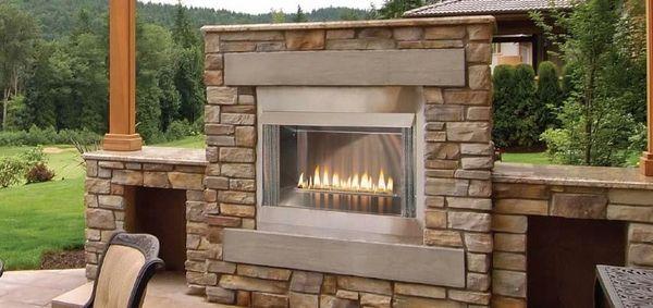 Loft Premium Contemporary Outdoor Gas Fireplace With Intermittent - Outdoor Gas Fireplace Insert BestFireplace 2017