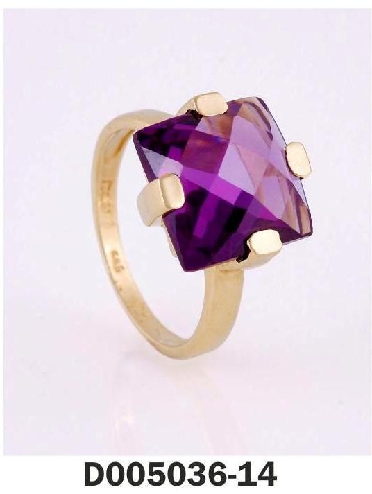 Ring Yellow Gold k18 and k14 Stones: Amethyst,