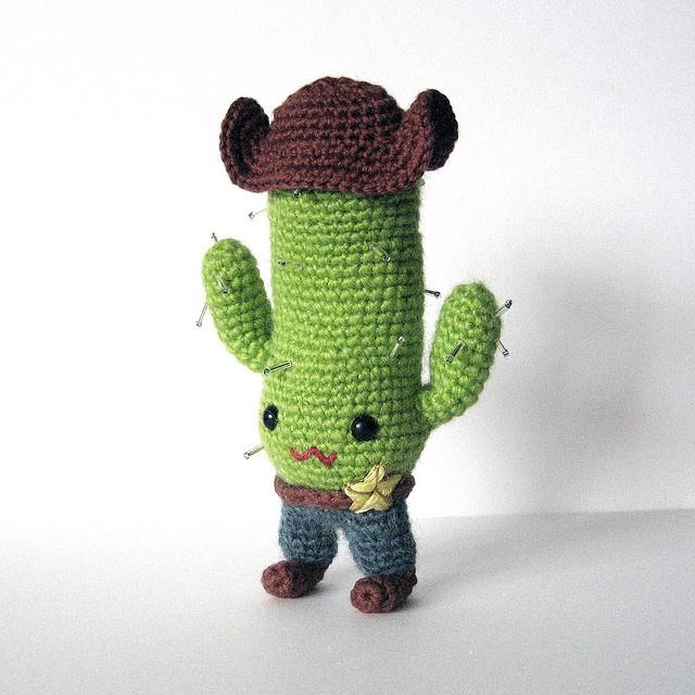 Amigurumi funny cactus.