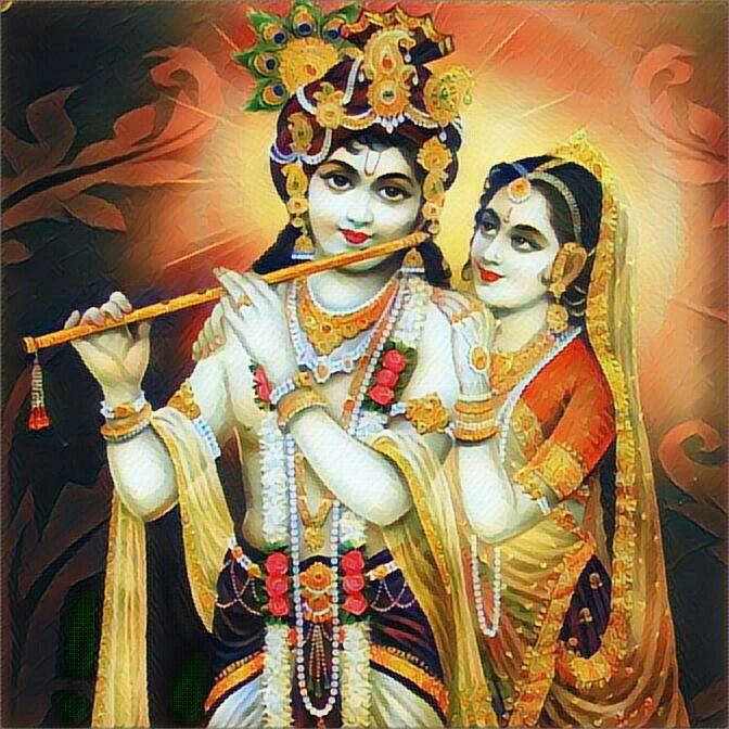 photo of lord krishna and radha