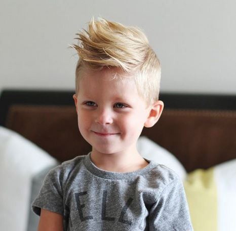 cool haistyles for little boys with light mohawk style with long spiky hair on top