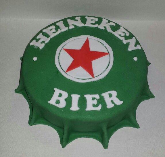 Heineken bier dop taart