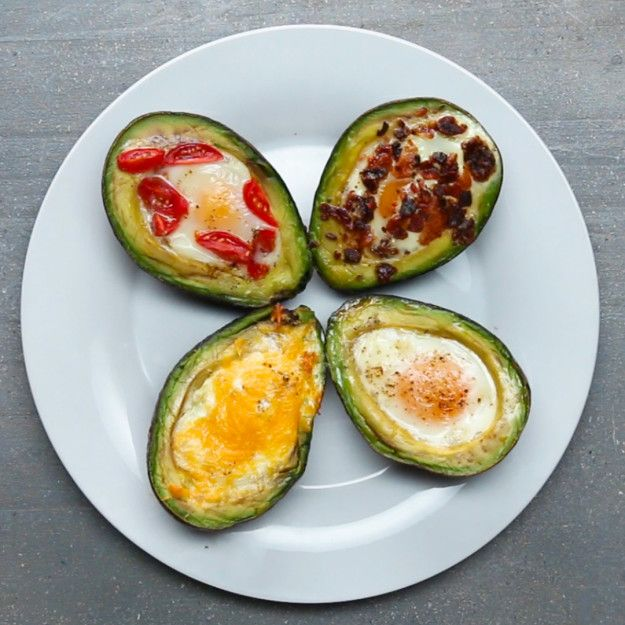 Baked Avocado Eggs 4 Ways | These Baked Avocado Eggs Are Literally The Most Perfect Breakfast Ever